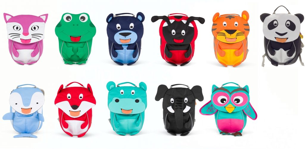 mochilas Affenzhan pequeñas con panda mini incluido
